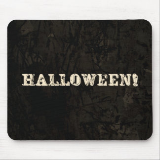 Halloween Text Mouse Pad
