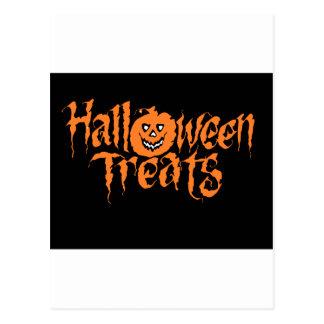 halloween text postcard