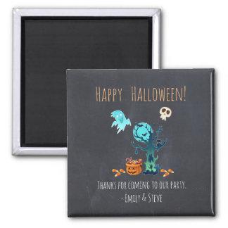 Halloween Thanks Ghosts Bats Skulls & Candy Magnet