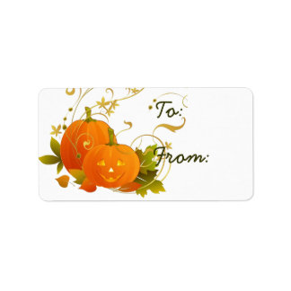 Halloween Thanksgiving Gift Tag Custom Address Labels