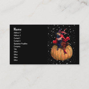 Witch nights business cards templates zazzle halloween the final frontier business card colourmoves