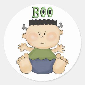 Halloween Theme Baby Boy BOO Fun Stickers