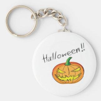 halloween theme basic round button keychain