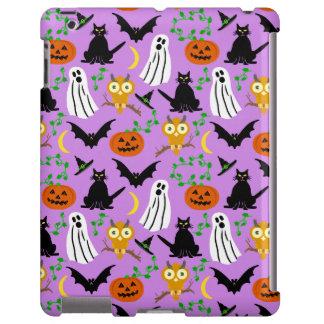 Halloween Theme Collage Toss Pattern Purple Cute