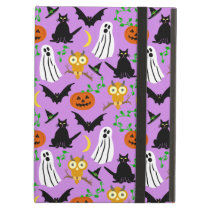Halloween Theme Collage Toss Pattern Purple Cute Cover For iPad Air