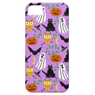 Halloween Theme Collage Toss Pattern Purple Cute iPhone SE/5/5s Case