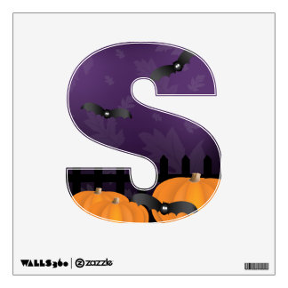 Halloween theme Letter S Wall Graphic