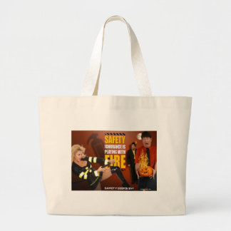 Halloween Theme Safety Geeks Funny Warning Canvas Bag