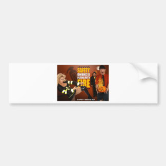 Halloween Theme Safety Geeks Funny Warning Bumper Stickers