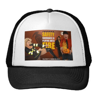 Halloween Theme Safety Geeks Funny Warning Trucker Hats