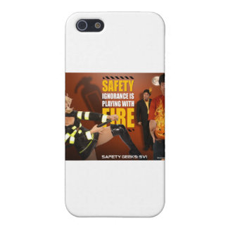 Halloween Theme Safety Geeks Funny Warning Cover For iPhone 5