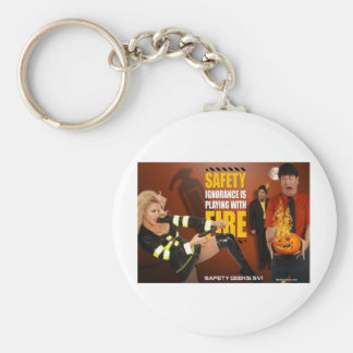 Halloween Theme Safety Geeks Funny Warning Key Chains