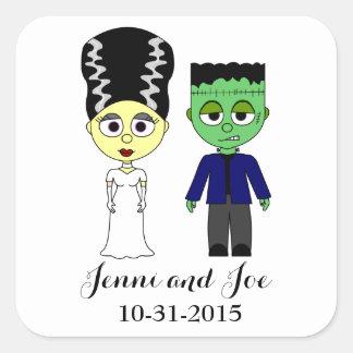 Halloween Theme Wedding Stickers