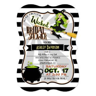 Halloween Theme Witch Bridal Shower Invitation