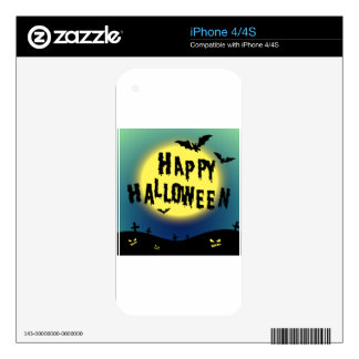 Halloween theme with bats and graveyard skin for the iPhone 4S