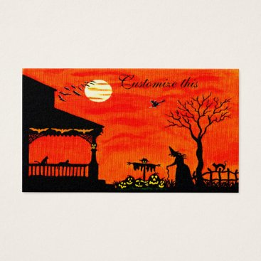 Professional Business Halloween themed business cards