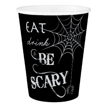Halloween Themed Halloween Themed Party Cups with Spider Web