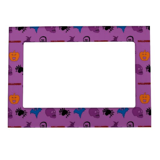 Halloween themed pattern magnetic picture frames