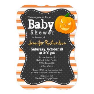 Halloween themed Pumpkin Baby Shower Invitation