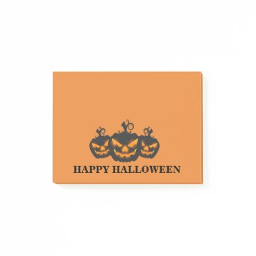 Halloween Themed Halloween Three  Angry Pumpkin Post-it Notes