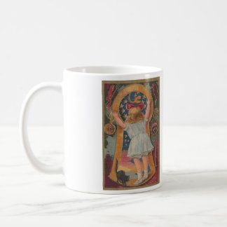 Halloween Through the Keyhole Cross Stitch Mug