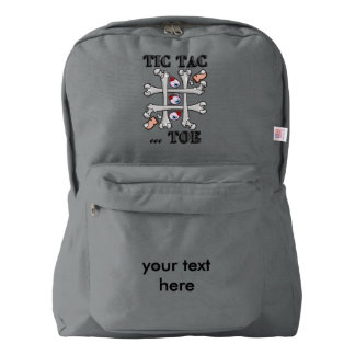 Halloween Tic Tack Toe With Real Toes and Eyes American Apparel™ Backpack