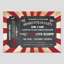 Halloween Ticket Party Invitation Circus Scare