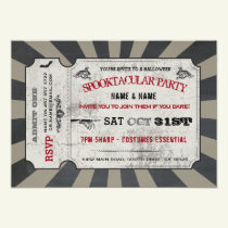 Halloween Ticket Party Spooktacular Invite Spooky
