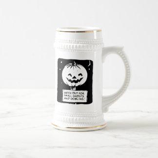 Halloween tiene cuidado para el fantasma taza