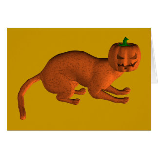 Halloween Tiger Cat Card