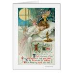 Halloween Time Fairies Around Sleeping Woman Cards