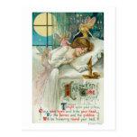 Halloween Time Fairies Around Sleeping Woman Post Cards