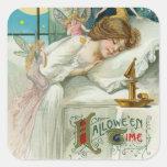 Halloween Time Fairies Around Sleeping Woman Sticker