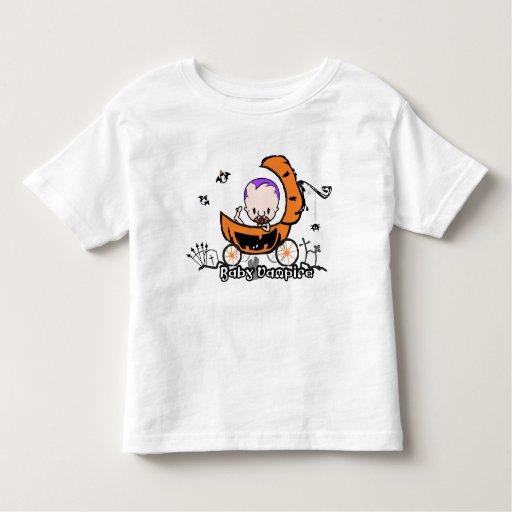 Halloween Toddler Tee - Baby Vampire on Pumpkin