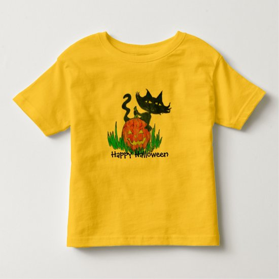 Halloween Toddler Tee- Halloween Kitty Toddler T-shirt