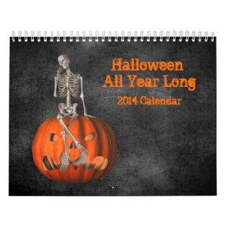 Halloween todo el año de largo 2014 calendario de pared
