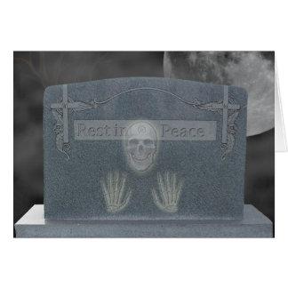 Halloween Tomb Stone Cards