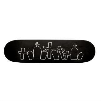 Halloween tombs figure skate board decks
