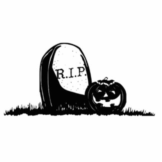Halloween Tombstone and Pumpkin Photo Cut Outs