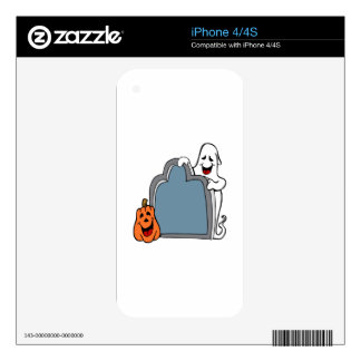 Halloween Tombstone Ghost and Pumpkin Decals For The iPhone 4S
