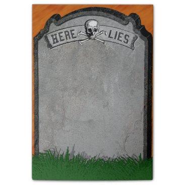 Halloween Themed Halloween Tombstone Grave Skull Crossbones Post-it Notes
