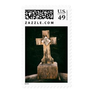 Halloween Tombstone Postage Stamp
