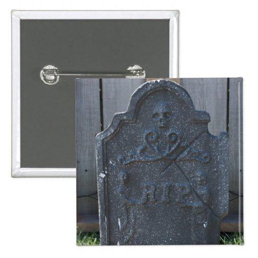 Halloween Tombstone RIP Skull Pins