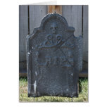Halloween Tombstone RIP Skull Card