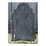 "Halloween Tombstone RIP Skull 5"" X 7"" Invitation Card"