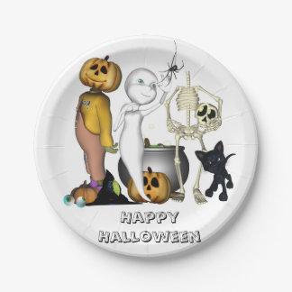 Halloween toon paper plates