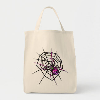 Halloween Tote Bag with Spider and Web