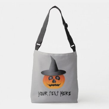 Halloween Themed Halloween Tote/Candy Bag with Jack-O-Lantern