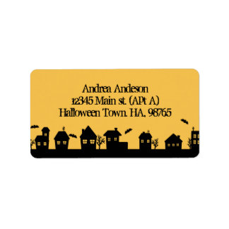 Halloween town personalized address label