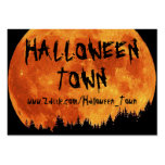 HALLOWEEN_TOWN LARGE BUSINESS CARDS (Pack OF 100)
